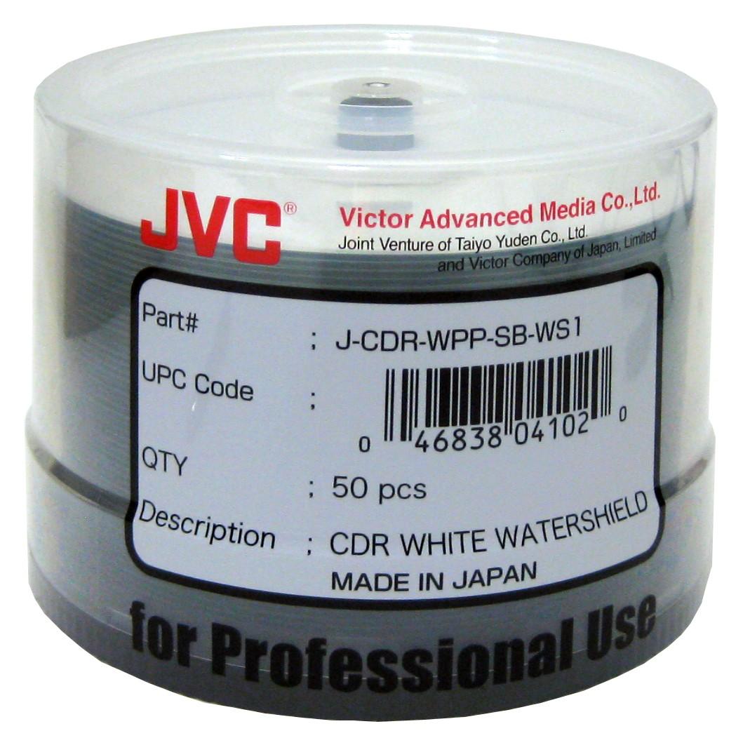 JVC/Taiyo Yuden WaterShield CD-R White - 50 pack