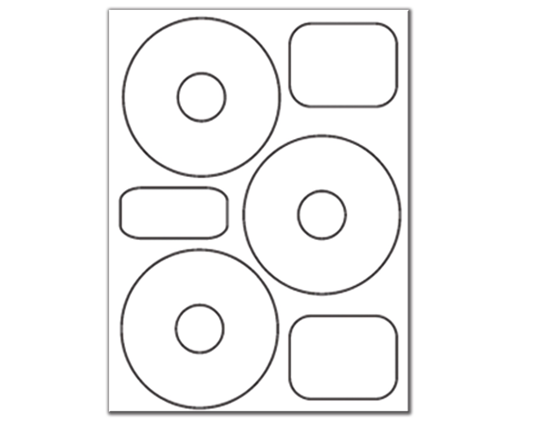 3-Up CD/DVD Labels 50400 - 1 package