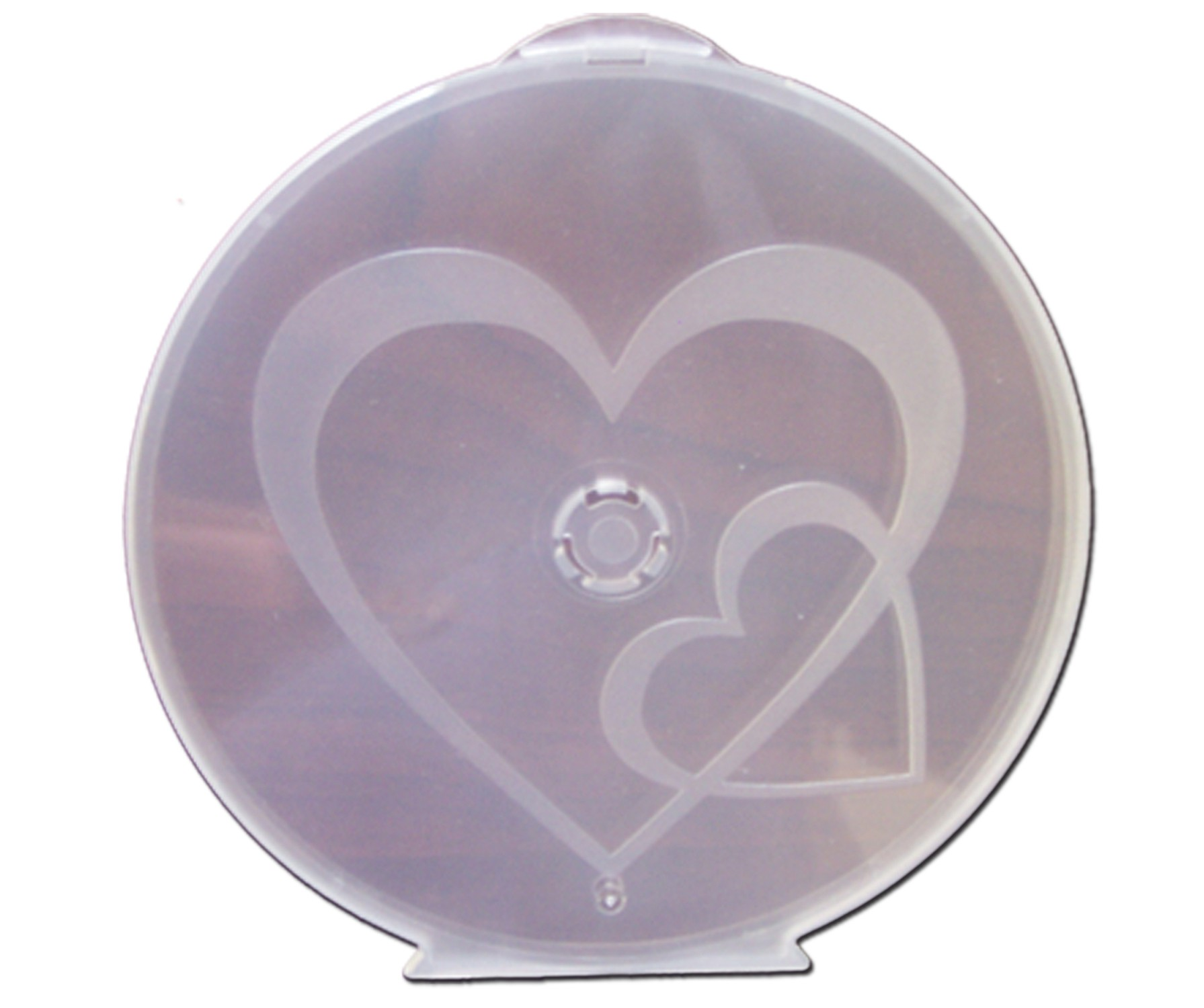 Heart to Heart Clam Shells Semi Clear - 25 pack