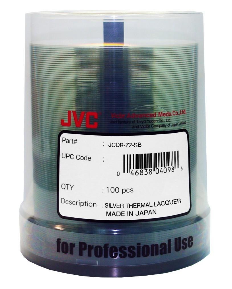 JVC/Taiyo Yuden CD-R 80 min Silver Lacquer Thermal - 100 pack