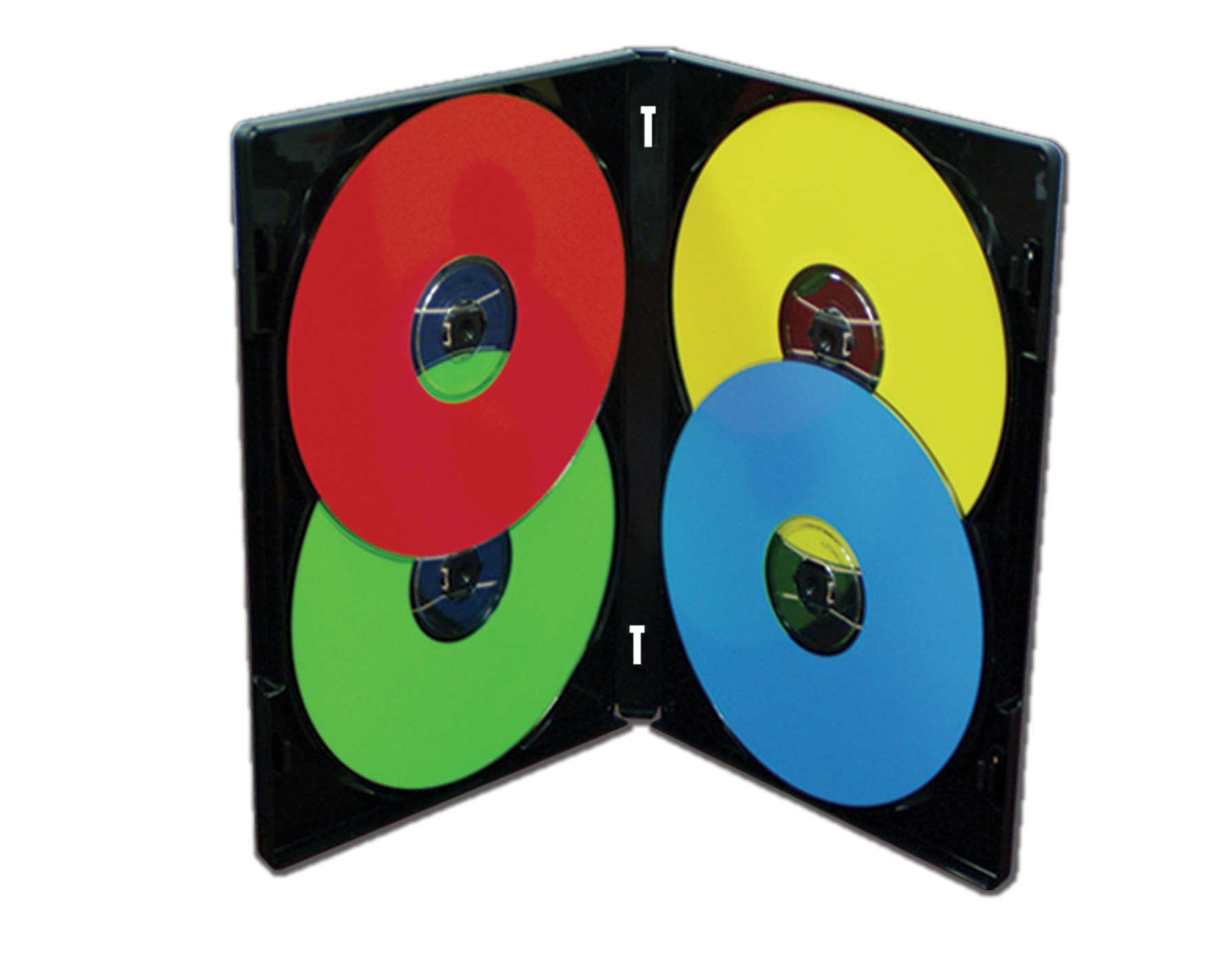 MultiPack 4 CD/DVD Albums Black - 25 pack