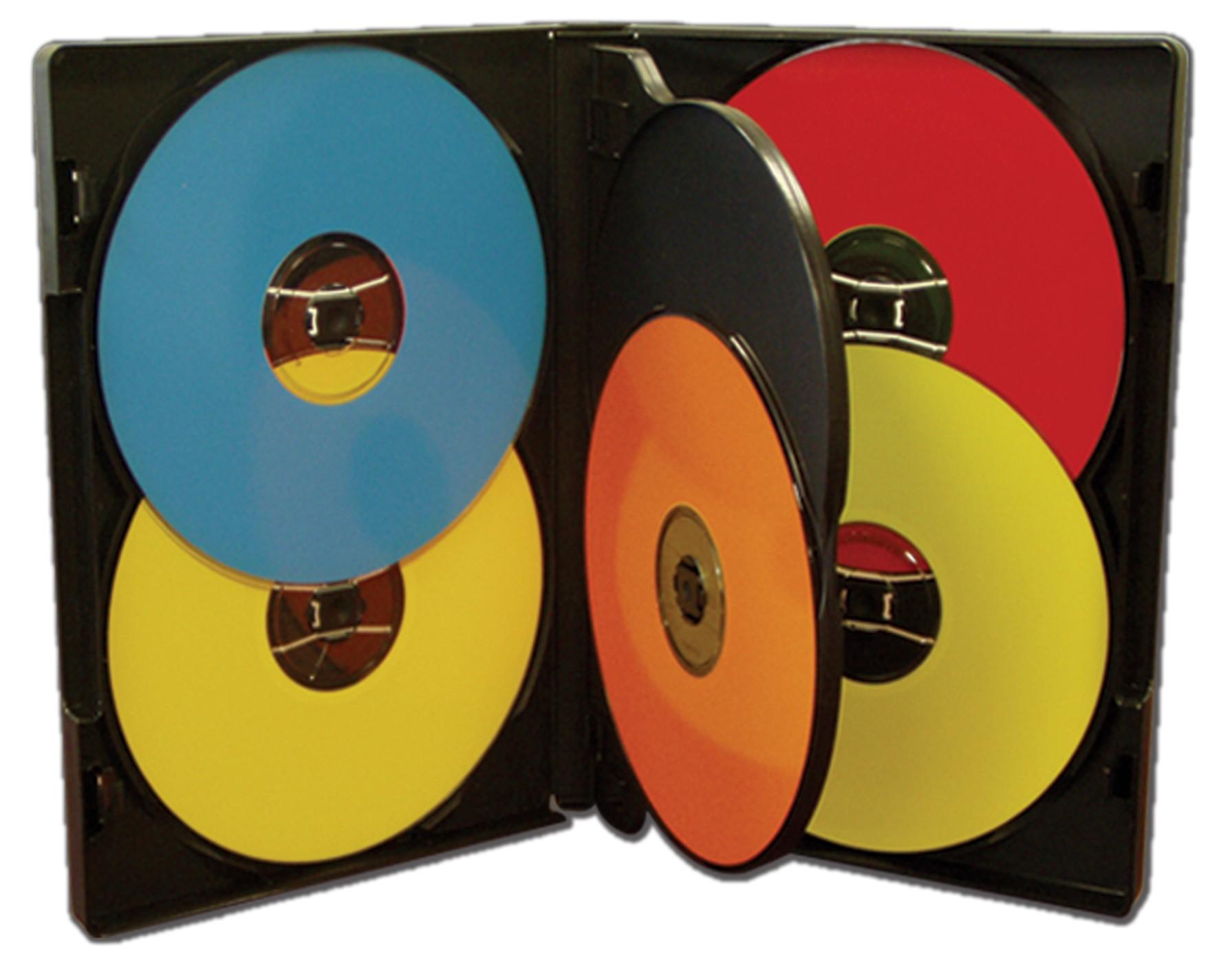 MultiPack 5 CD/DVD Albums Black - 25 pack