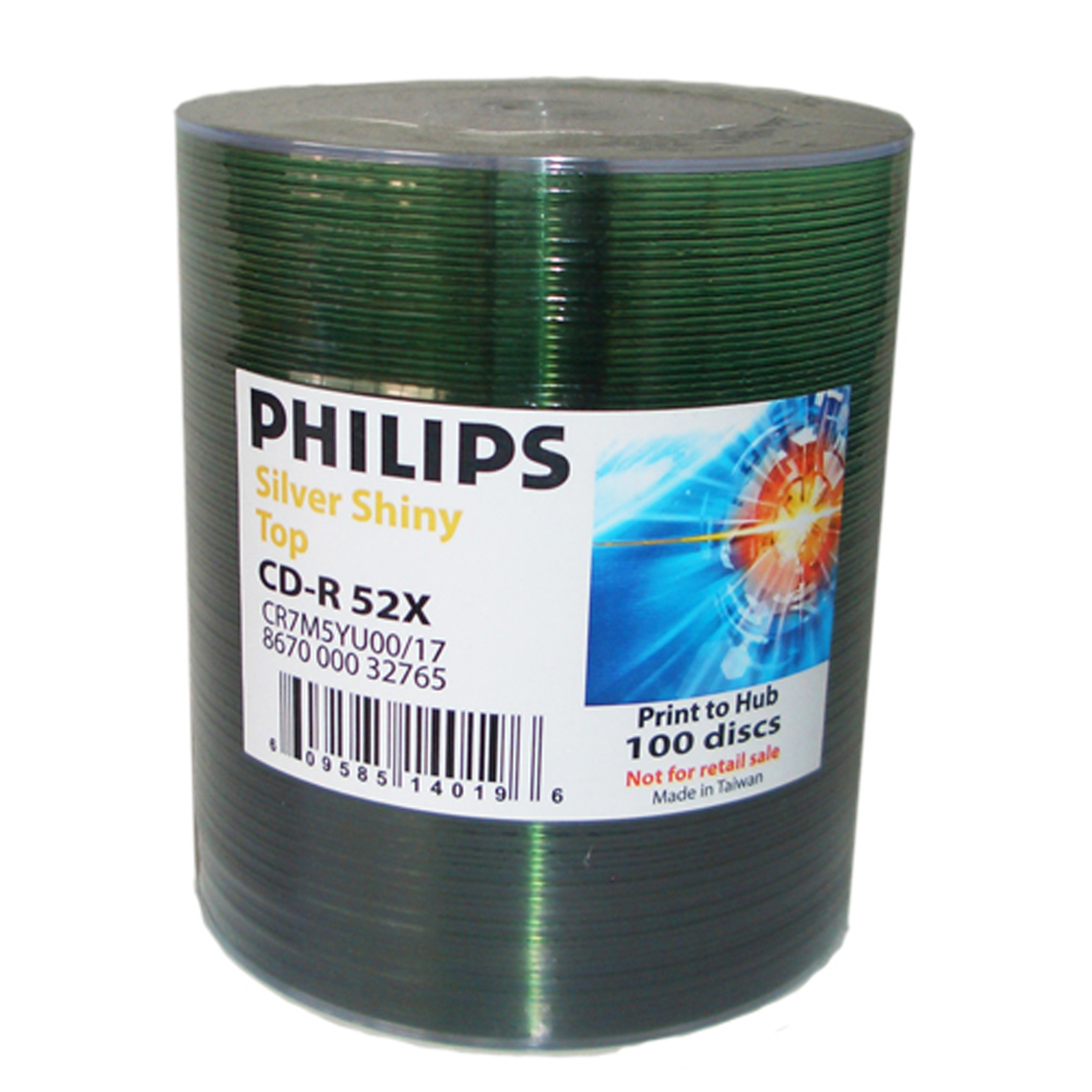 Philips CD-R 52X Shiny Silver 100 pack