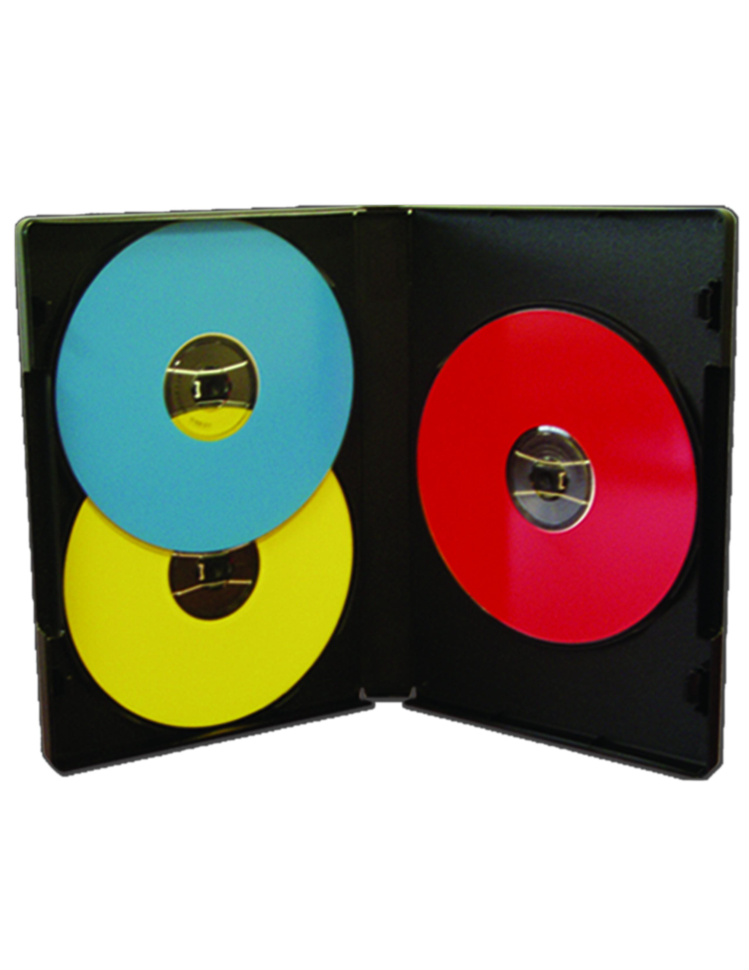 Standard Triple CD/DVD Case Black - 25 pack