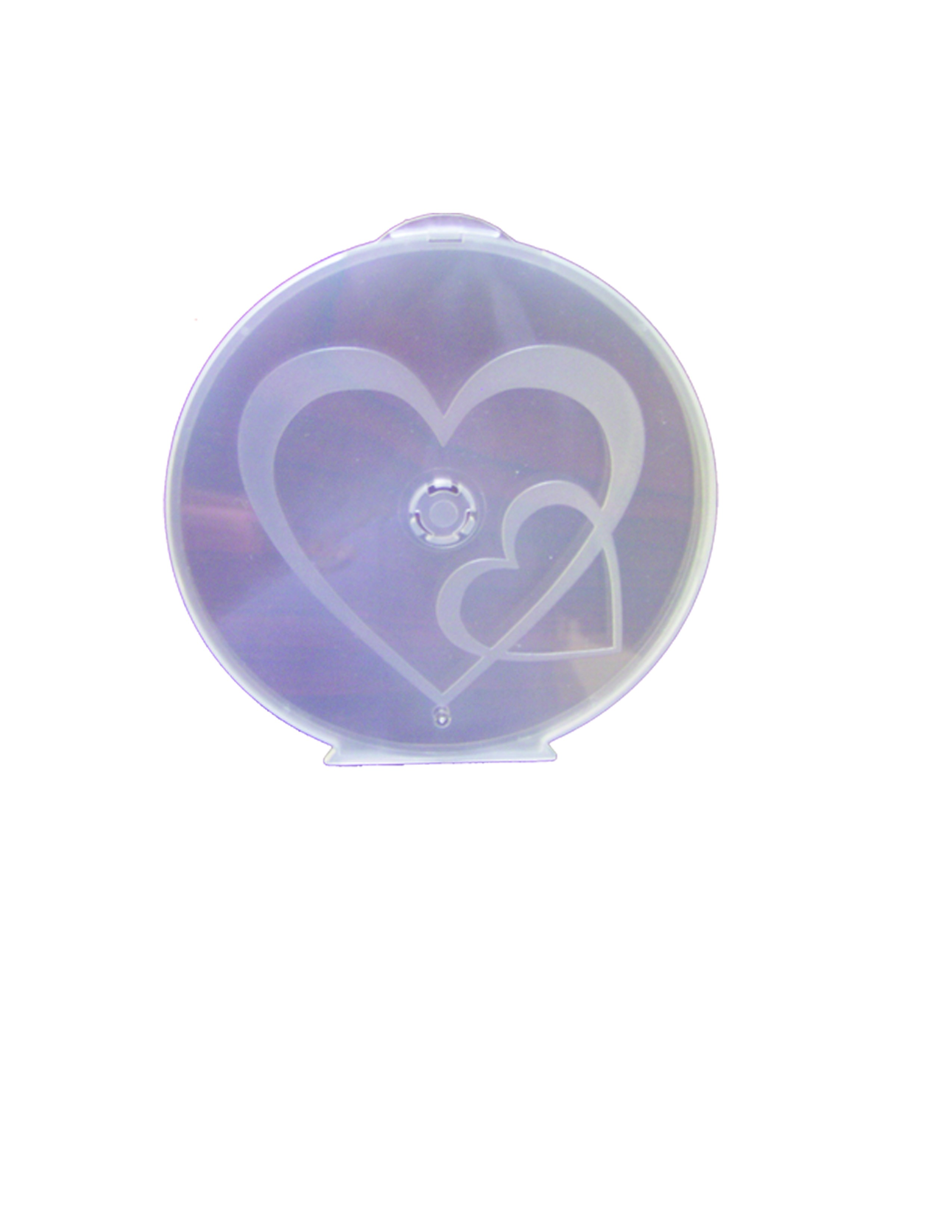 Heart to Heart Clam Shells Pink Semi Clear - 25 pack