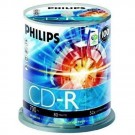 Philips CD-R 52X Silver Branded 100 pack
