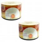 Premium 16X DVD-R Silver Inkjet Hub Printable- 100 pack
