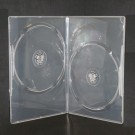 7MM Slim Semi Clear Double DVD Case - 25 pack