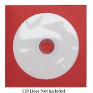 CD/DVD Red Paper Sleeve 500 pack